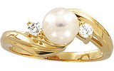 Timeless Pearl Genuine Gemstone Ring at BitCoin Gems