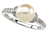 Beautiful Pearl Genuine Gemstone Ring at BitCoin Gems