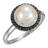 Fashionable Pearl Genuine Gemstone Ring at BitCoin Gems