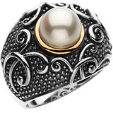 Attractive Pearl Genuine Gemstone Ring at BitCoin Gems