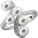 Best Pearl Genuine Gemstone Ring at BitCoin Gems