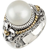 Snazzy Pearl Genuine Gemstone Ring at BitCoin Gems