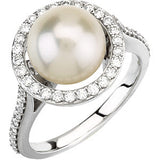 Gorgeous Pearl Genuine Gemstone Ring at BitCoin Gems