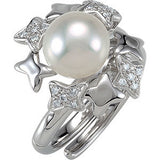 Desirable Pearl Genuine Gemstone Ring at BitCoin Gems