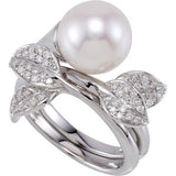 Pretty Pearl Genuine Gemstone Ring at BitCoin Gems