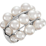 Eye Catching Pearl Genuine Gemstone Ring at BitCoin Gems