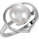 Excellent Pearl Genuine Gemstone Ring at BitCoin Gems