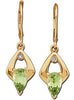 Beautiful Genuine Gemstone Peridot Earrings at BitCoin Gems