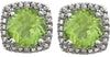 Choice Genuine Gemstone Peridot Earrings at BitCoin Gems