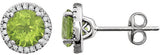 Fashionable Genuine Gemstone Peridot Earrings at BitCoin Gems