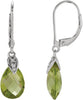 Trendy Genuine Gemstone Peridot Earrings at BitCoin Gems