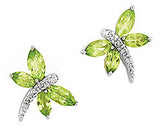 Eye Catching Genuine Gemstone Peridot Earrings at BitCoin Gems