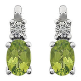 Elegant Genuine Gemstone Peridot Earrings at BitCoin Gems