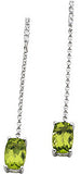 Detailed Genuine Gemstone Peridot Earrings at BitCoin Gems