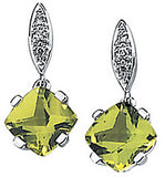 Astonishing Genuine Gemstone Peridot Earrings at BitCoin Gems