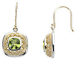 Ravishing Genuine Gemstone Peridot Earrings at BitCoin Gems