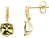 Lovely Genuine Gemstone Peridot Earrings at BitCoin Gems