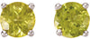 Stunning Genuine Gemstone Peridot Earrings at BitCoin Gems