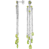 Fun Genuine Gemstone Peridot Earrings at BitCoin Gems
