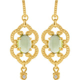 Amazing Genuine Gemstone Peridot Earrings at BitCoin Gems