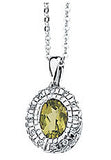 Eye Catching Genuine Gemstone Peridot Pendant for SALE at BitCoin Gems