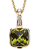 Stunning Genuine Gemstone Peridot Pendant for SALE at BitCoin Gems