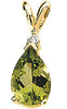 Alluring Genuine Gemstone Peridot Pendant for SALE at BitCoin Gems