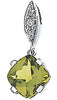 Radiant Genuine Gemstone Peridot Pendant for SALE at BitCoin Gems