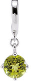 Elegant Genuine Gemstone Peridot Pendant for SALE at BitCoin Gems