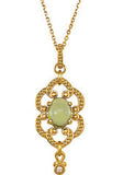Unique Genuine Gemstone Peridot Pendant for SALE at BitCoin Gems