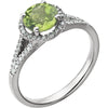 Beautiful Peridot Genuine Gemstone Ring at BitCoin Gems