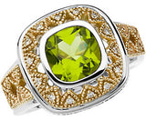 Gorgeous Peridot Genuine Gemstone Ring at BitCoin Gems