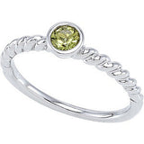 Pretty Peridot Genuine Gemstone Ring at BitCoin Gems