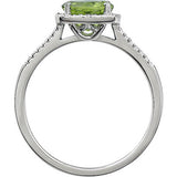Trendy Peridot Genuine Gemstone Ring at BitCoin Gems