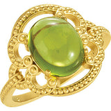 Desirable Peridot Genuine Gemstone Ring at BitCoin Gems