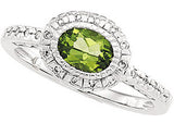 Exquisite Peridot Genuine Gemstone Ring at BitCoin Gems