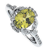 Girly Peridot Genuine Gemstone Ring at BitCoin Gems