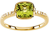 Chic Peridot Genuine Gemstone Ring at BitCoin Gems