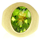 Fantastic Peridot Genuine Gemstone Ring at BitCoin Gems