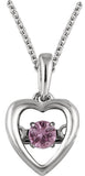 Adorable Genuine Gemstone Pink Sapphire Pendant for SALE at BitCoin Gems