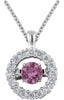 Dazzling Genuine Gemstone Pink Sapphire Pendant for SALE at BitCoin Gems