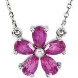 Bold Genuine Gemstone Pink Sapphire Pendant for SALE at BitCoin Gems