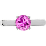 Attractive Pink Sapphire Genuine Gemstone Ring at BitCoin Gems