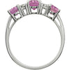 Lovely Pink Sapphire Genuine Gemstone Ring at BitCoin Gems