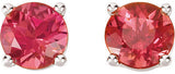 Ultra Chic Genuine Gemstone Pink Tourmaline Earrings at BitCoin Gems