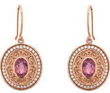 Darling Genuine Gemstone Pink Tourmaline Earrings at BitCoin Gems