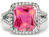 Lovely Pink Tourmaline Genuine Gemstone Ring at BitCoin Gems