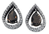 Exclusive Genuine Gemstone Smoky Quartz Earrings at BitCoin Gems