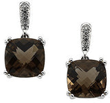 Expressive Genuine Gemstone Smoky Quartz Earrings at BitCoin Gems