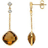Eye Catching Genuine Gemstone Quartz Earrings at BitCoin Gems